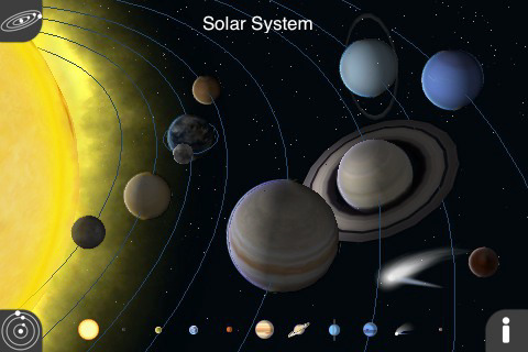 Top Astronomy Apps For IPhone And IOS - Accurate map of the solar system