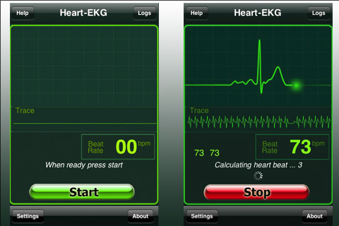 Heart monitor app for smartphone