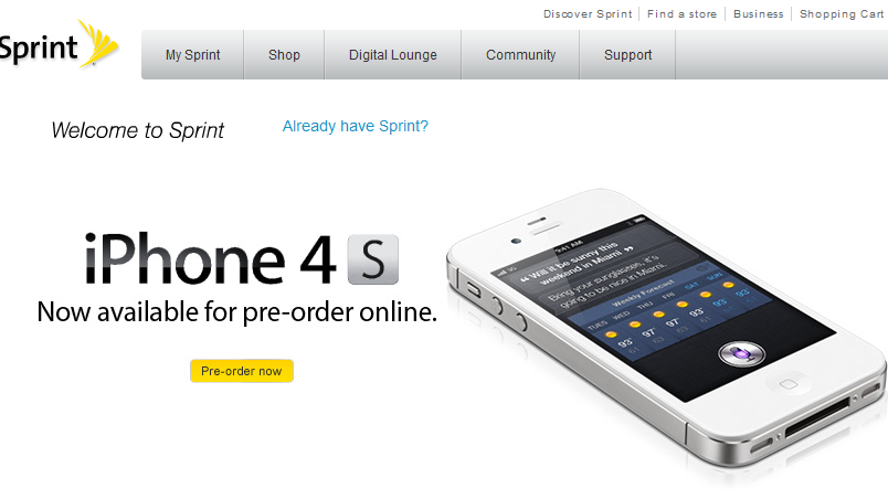iPhone 4S Pre-orders Start Today