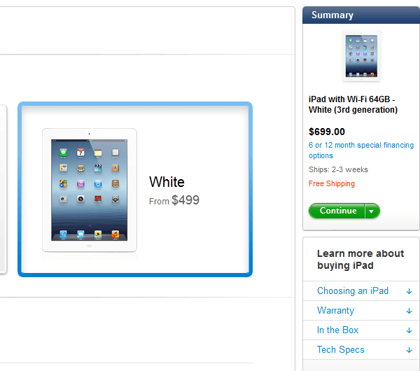 iPad Launch Tips, Fans Engaging in Arbitrage?