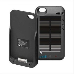 Solar panel iphone charger case