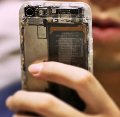 transparent iphone 5