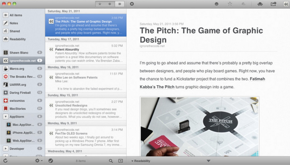 Reeder for Mac, iPad Free For Now