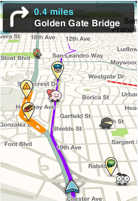 Waze  one of the best social navigation apps around. It provides you with  live routing based on community-generated c3f58b5fc