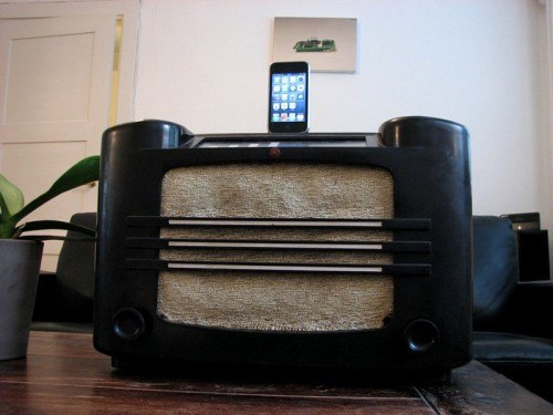 1937 Philips AM Radio iPhone Dock, Maze iPhone 5 Case