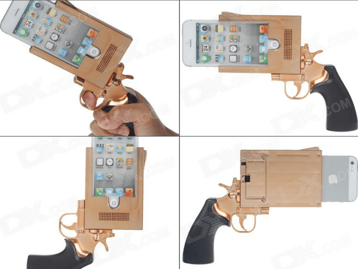 Pistol Shaped iPhone 5 Case Means Trouble