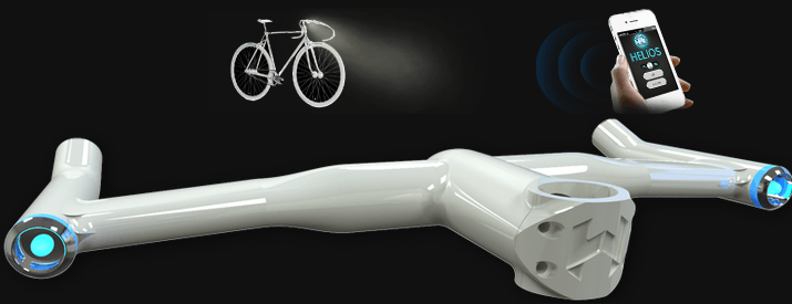 iPhone App-Enhanced Helios Bars for Your Bike