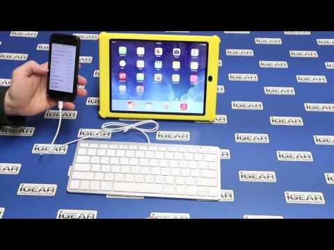 igear ipad wired keyboard with lightning connector. Black Bedroom Furniture Sets. Home Design Ideas