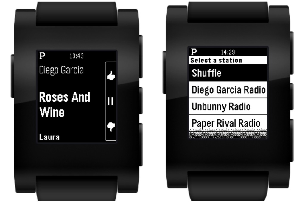 GitHub Notes from Your Phone, Pandora for Pebble