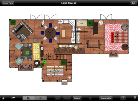 MOC HD: this elegant iPad app helps you handle designing and space planning  of your rooms. Lets you customize your rooms and all their elements.