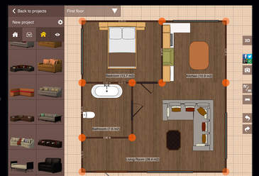 Create and view floor plans with these 7 ios apps iphoneness for Office design 5d