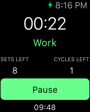 intervals apple watch