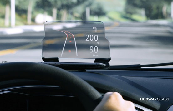 Hudway Glass Turns Your Smartphone Into A Hud For Your Car