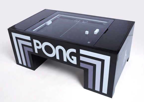 Here Is A Cool Coffee Table With A Playable Game Of Pong That Can Also  Serve As A Digital Clock And Bluetooth Speaker System. The Table Pong  Project Was ...