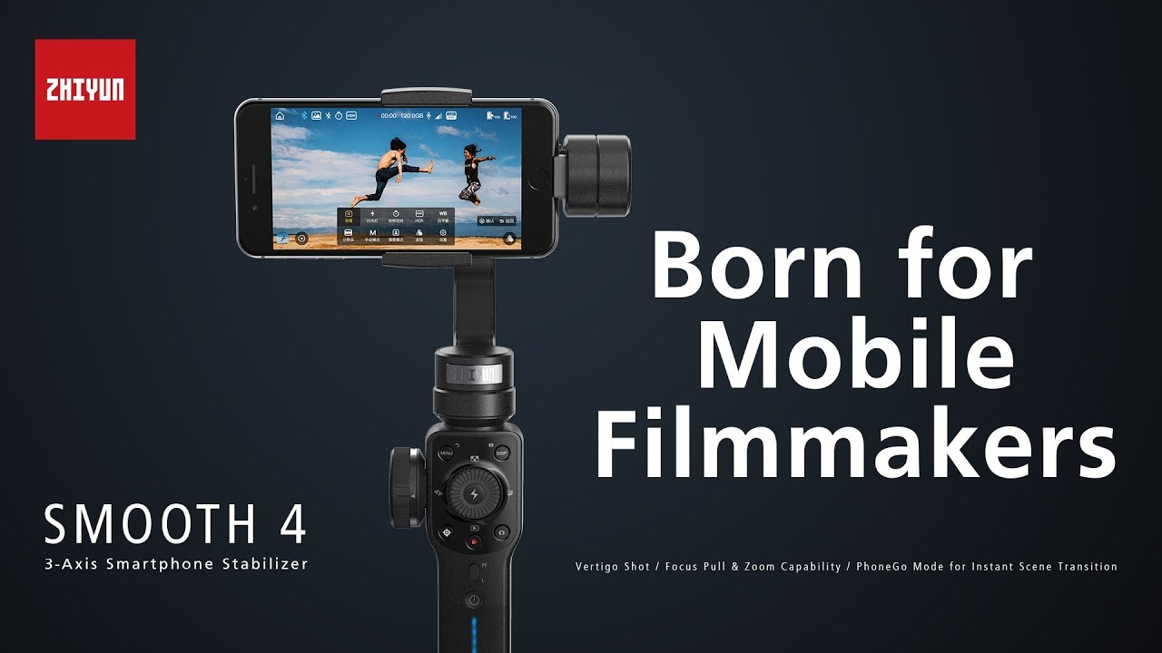 Zhiyun Smooth 4 Smartphone Stabilizer For Filmmakers