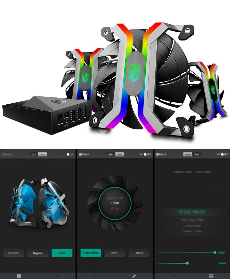 Deepcool Mf120 Smart Pc Fan Set With Wifi App Control