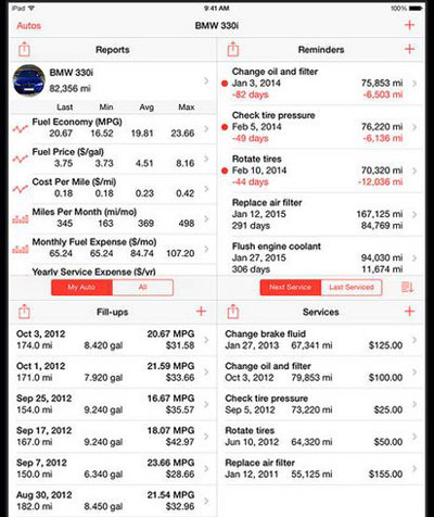 4 Mileage Trackers & Service Log Apps for iPhone & iPad