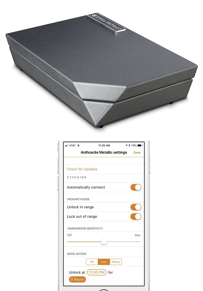 Steel Patriot Gun Safe With Ios Android App Amp Tampersense