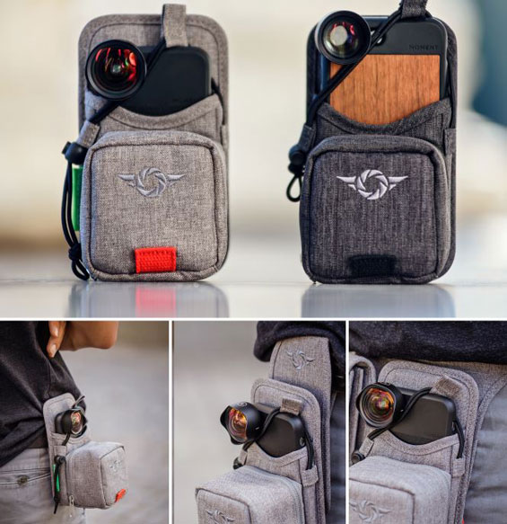 PhoneSlinger: IPhone Photography Bag With Room For 4 Lenses