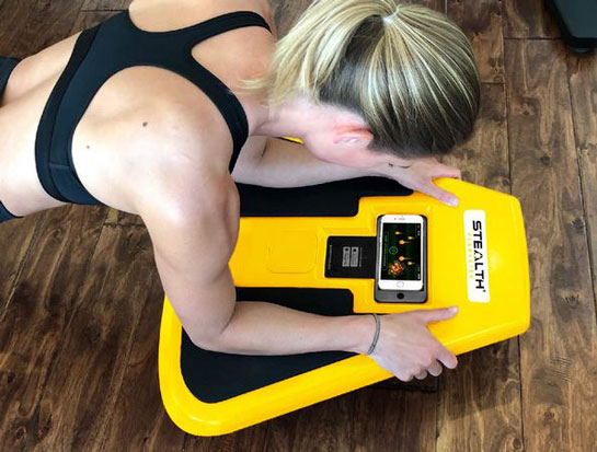 stealth plankster gamifies plank workout with your
