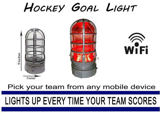Hockey Goal Light With Wifi Turns Red When Your Team Scores