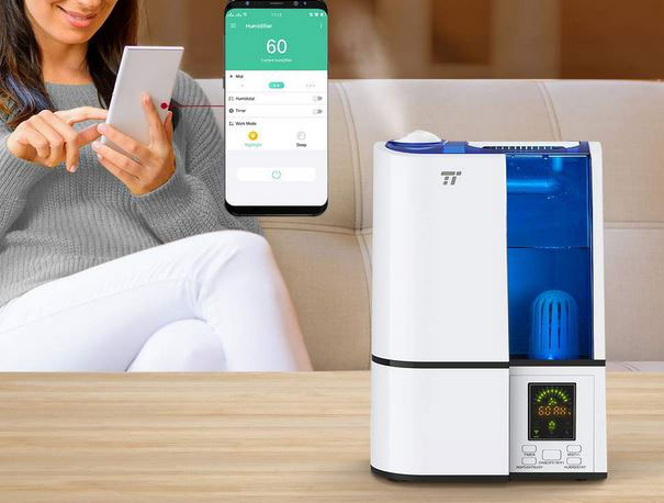 taotronics wifi smart humidifier works with alexa. Black Bedroom Furniture Sets. Home Design Ideas