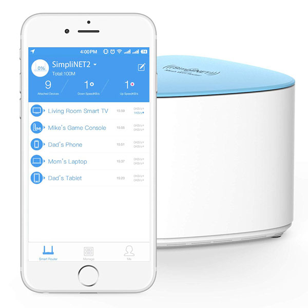 Simplinet2 Whole Home Mesh Router With Firewall